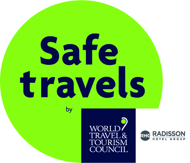 WTTC Safe travel Stamp with Radisson